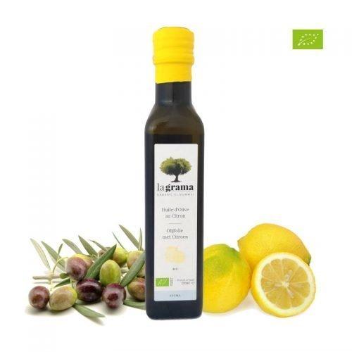 La Grama Organic – Huile d'olive et Citron – 0,25l