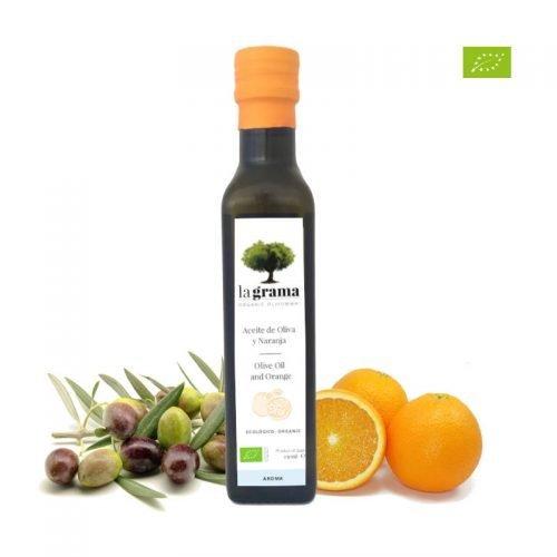 La Grama Organic – Huile d'olive et Orange – 0,25l